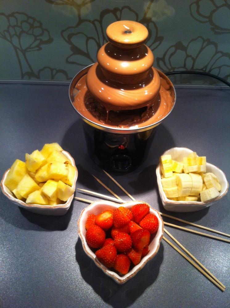 chokladfontän recept grädde